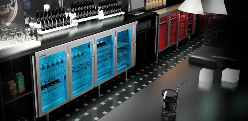 Vetrinette refrigerate per bar